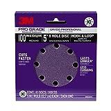 3M 88520NA-9-B Pro Grade 5-Inch 8-Hole Sanding Disc