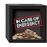 PRINZ 6 X 2.5 X 6 Inch 'in Case of Emergency' Wood Bank