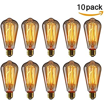 home lighting fixtures. kingso vintage edison bulbs 40w squirrel cage filament incandescent antique light bulb 2200k for home lighting fixtures c