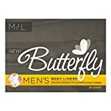Butterfly® Pads / Body Liners for Bowel Leaks - Men's M/L 28 Count