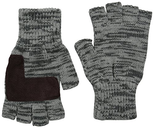 - Levi's Men's Heathered Knit Fingerless Gloves,Two Toned Grey,One Size