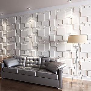 Art3d 3D Wall Panels for Interior Wall Decoration Brick Design Pack of 6 Tiles 32 Sq Ft (Plant Fiber)