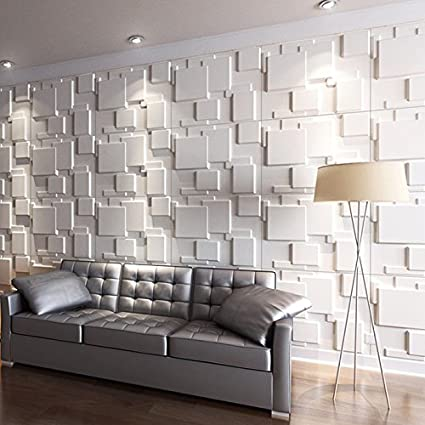 Art3d 3D Wall Panels For Interior Wall Decoration Brick Design Pack Of 6  Tiles 32 Sq