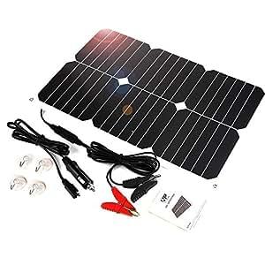 ALLPOWERS Panel Solar Baterías Cargador 18V 12V 18W Panel Módulo Solar mechero de Coche Mantenimiento de Batería para Coches, Caravana, Moto, Bote, Barco