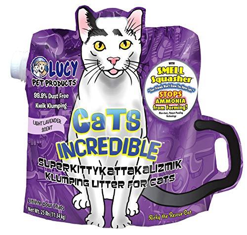 Cats Incredible Lavender SuperKittyKattakalizmik Klumping Litter, 25 lb