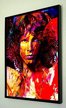 Incredible Jim Morrison framed canvas art print wall decor painting artwork by Mark Lewis Art - woms - signed collectible