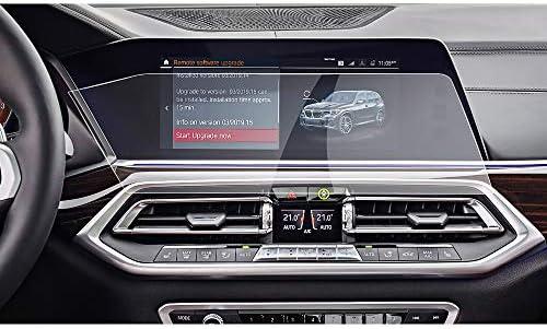 XHULIWQ スクリーンプロテクター左ラダーカーナビゲーションセンタータッチディスプレイ、9H強化ガラス保護フィルム、BMW X5 G05 12.3インチ用