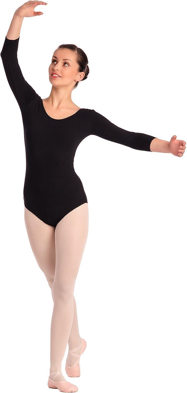 Arabesque, 3/4 Kurzarm Damen Ballettanzug Klassischen Body, 2002
