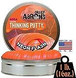 Crazy Aaron's Electric Thinking Putty MEGA Tin Neon Flash - 1 Pound (.16oz)