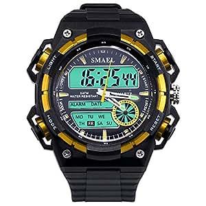Blisfille Reloj Hombre Sumergible Reloj Hombre 700 Relojes Raros Hombre Reloj para Ejercicio Reloj Digital Rojo