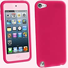 iGadgitz Pink Silicone Skin Case Cover for Apple iPod Touch 6th Generation (July 2015 onwards) & 5th Generation (2012-2015) + Screen Protector