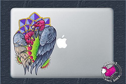 Two Vultures and Venus Fly Traps (4 INCHES) Color Vinyl Decal Sticker Car Window MacBook Laptop Computer Tattoo Design Artist Birds Drawing Painting Birds Scavenger Vulture Plants Colorful Death Halloween (Halloween Window Drawings)