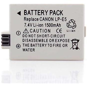 Amazon.com: LP-E5 Batería y Cargador para Canon Rebel XS EOS ...