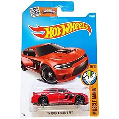 Hot Wheels, 2016 Muscle Mania, '15 Dodge Charger SRT Hellcat [Red] 130/250: Toys & Games
