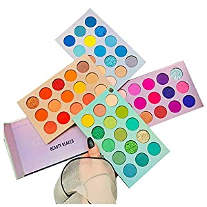 Best Epic Trends 51LeE-UznHL._SS300_ 60 Colors Eyeshadow Palette, 4 in1 Color Board Makeup Palette Set Highly Pigmented Glitter Metallic Matte Shimmer…