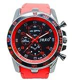 SMTSMT Stainless Steel Sport Modern Men Fashion Wrist Watch - Red