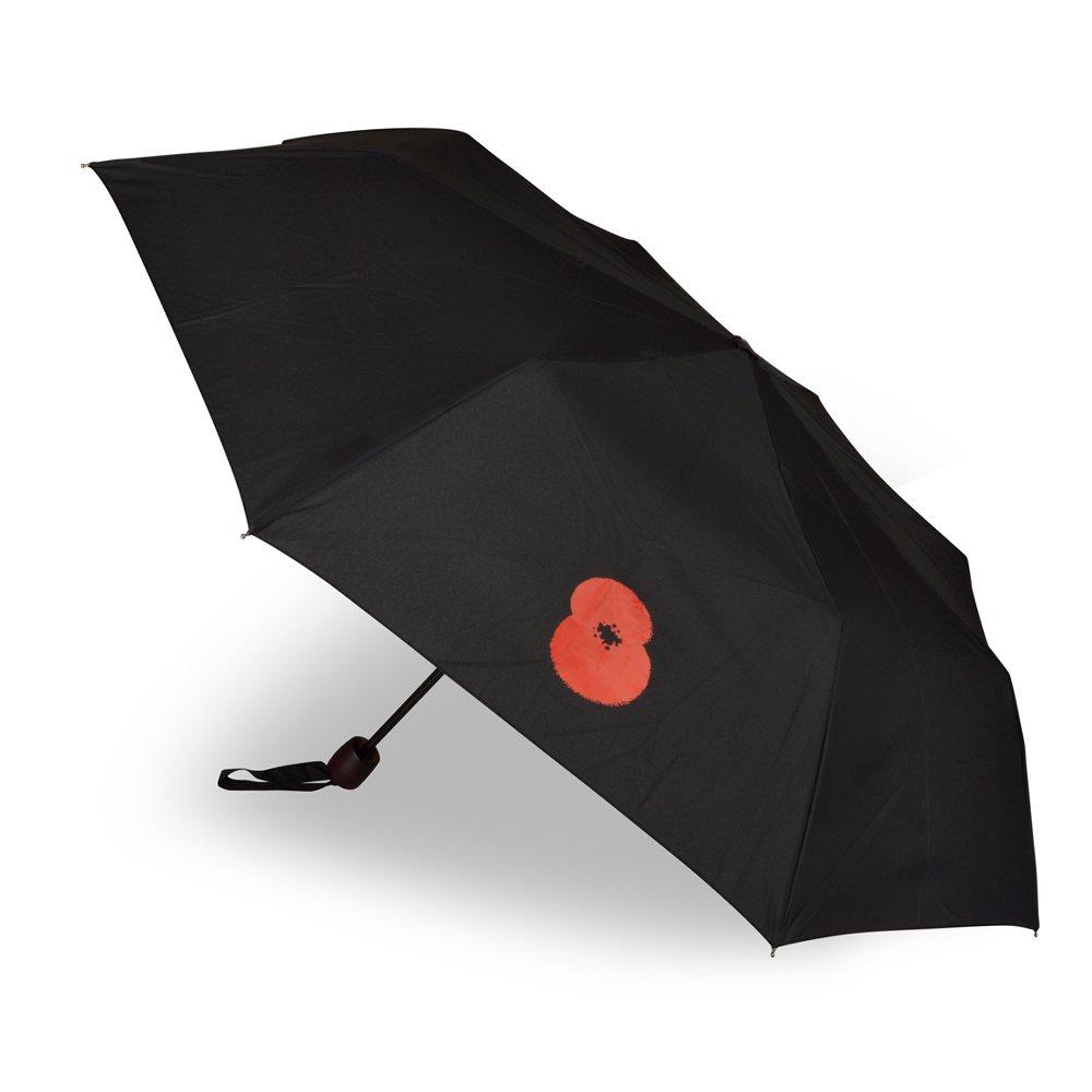 The Royal British Legion Poppy Manual Folding Umbrella GF1261