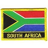 Flaggen Aufnäher Patch Südafrika Schrift Fahne NEU