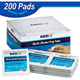 MEDca Alcohol Prep Pads, Sterile, Medium, 2-Ply PACK OF 200