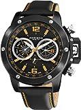 Akribos XXIV Men's AKR469BK Conqueror Multifunction Stainless Steel Swiss Quartz Strap Watch, Watch Central