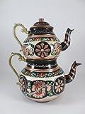 Product review for Grandbazaarshopping Copper Turkish Tea Maker, Samovar, Artisan Handmade, Traditional Turkish Tea Maker, Tea Pot