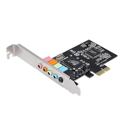 Docooler PCI-E Express Tarjeta 5.1 Sonido 5 Puerto Tarjeta de Sonido Surround estéreo Tarjeta de Sonido para Escritorio