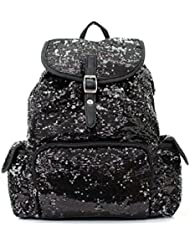 Sequin Fashion Backpack Blk
