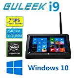 GULEEK i9 Tablet Mini PC Windows 10 Desktop Computer with 7 inch Ips Touch Screen Quad Core Intel Bay Trail Cr Atom Z3735F 2GB Ddr3l Ram 32GB Emmc Rom Wifi 2.4GHz Bluetooth 4.0