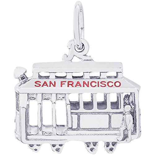 Rembrandt Charms Cable Car Charm, Sterling Silver ()