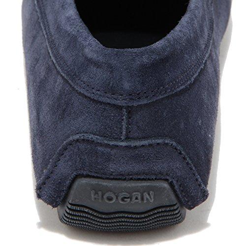 Men 0695l Hogan Uomo 185 Loafers Shoes Wrap Blu Mocassini Scarpe