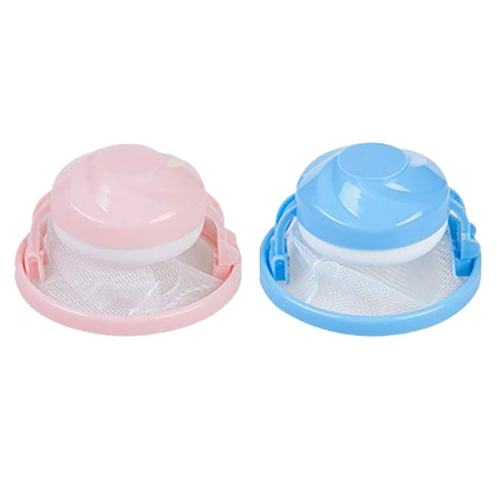 UK 2X Washing Machine Laundry Filter Bag Floating Lint Hair Catcher Mesh Pouch