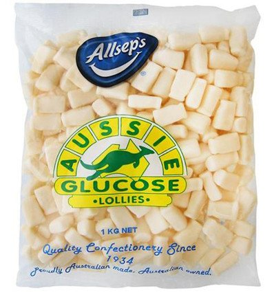 Allseps Aussie de Glucosa en la Bolsa-un-caramelos de Leche de la Botella 1kg: Amazon.es: Alimentación y bebidas