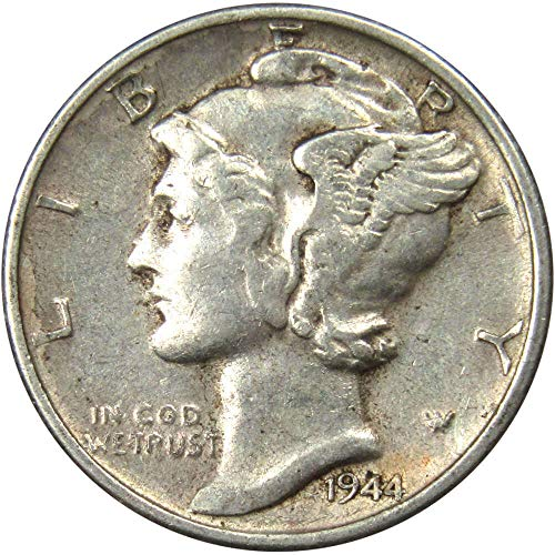 1944-S 10c Mercury Silver Dime XF EF Extremely Fine