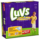 Luvs Ultra Leakguards Stage 5 Jumbo Diapers 27 ct, Health Care Stuffs