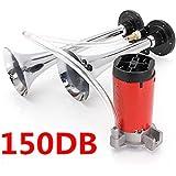 AUDEW 12V Air Horns Dual Trumpet Super Loud With Compressor Twin Tone