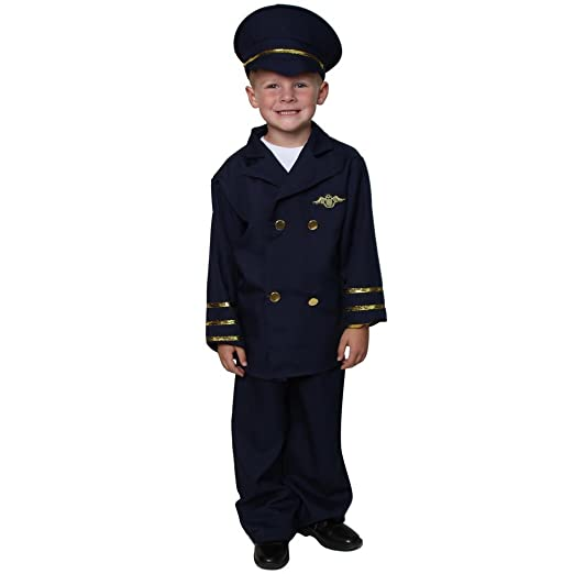 Navy Deluxe Pilot Costume Size 2/4