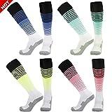 Fancy Fan Unisex Knee High Fashion Striped Pattern Cushion Dri Fit Athletic Sports Basketball Soccer Socks,1/4 Pairs