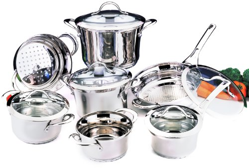 BergHOFF Tulip 12-Piece Glass Covered Cookware Set