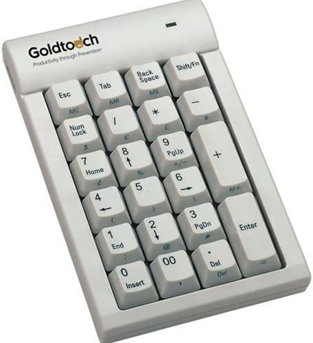 White Goldtouch GTC-0033 Numeric Keypad USB Windows