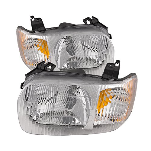 - Headlights Depot Replacement for Ford Escape Headlights Headlamps OE Style Replacement Driver/Passenger Pair New