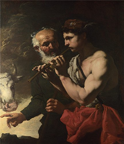 [Oil Painting 'Johann Carl Loth Mercury Piping To Argus', 24 x 28 inch / 61 x 71 cm , on High Definition HD canvas prints is for Gifts And Bath Room, Foyer And Living Room Decoration,] (Costumes Halloween Yahoo)