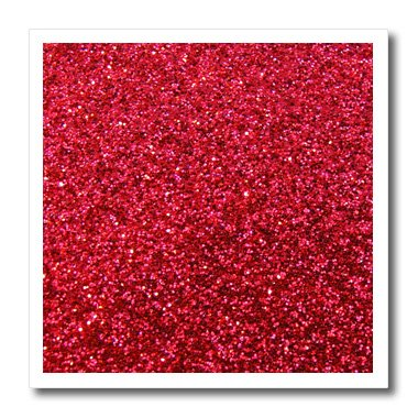 3dRose ht_112927_3 Red Faux Glitter Texture Glam Matte Sparkly Bling Bold Stylish Girly-Iron on Heat Transfer for Material, 10 by 10-Inch, White