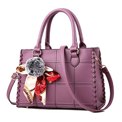 Purple Satchel Handbag - 3
