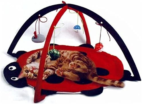 Petty Love House Cat Activity Center with Hanging Toy Balls, Mice More - Helps Cats Get Exercise  Stay Active Best Cat Toys on Amazon 2