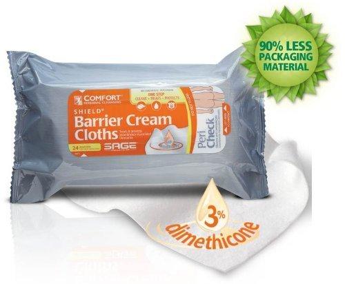 Comfort ® Bouclier incontinence Crème barrière Chiffons - 24pk (3 Pack) (3)