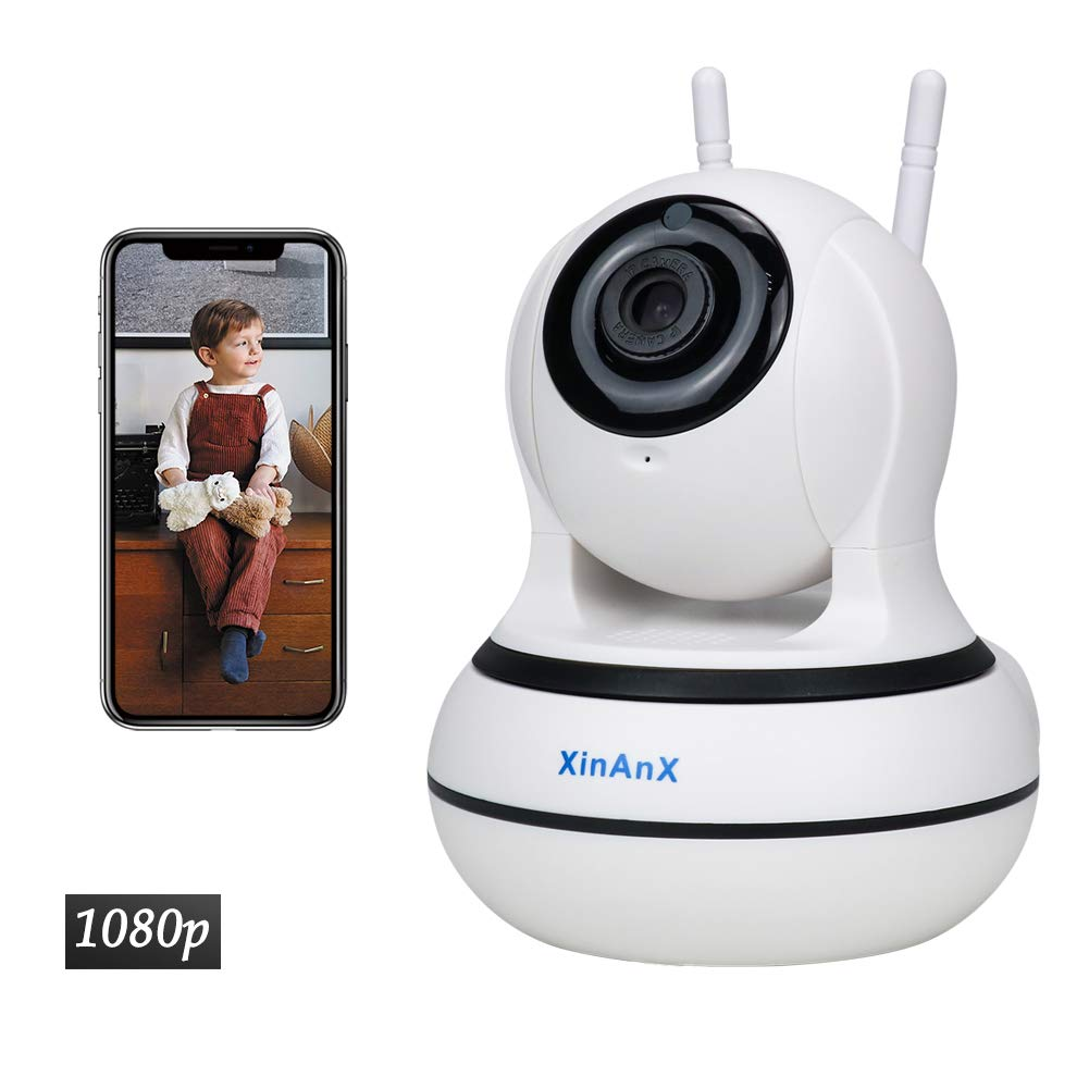 WiFi IP Camera, Security Wireless Camera Indoor 1080p Surveillance System 2.4GHz for Home Baby Pet Monitor with IR Night Vision, Pan Tilt Zoom, Motion Detection, Two-Way Audio, Cloud Storage