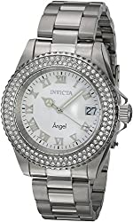 Invicta Women's 20502 Angel Quartz 3 Hand White Dial Watch