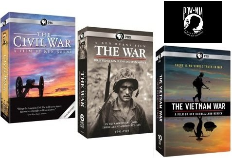 Ken Burns: The War Collection - The Civil War, The War, The Vietnam War, Plus Bonus POW*MIA Decal by