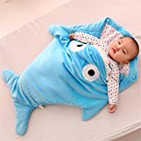 Infant Shark Sleeping Bag,Kosbon Baby Cute Blanket Used in Outdoor Stroller or Air-conditioned Room Summer/Winter Dual Use (Blue)
