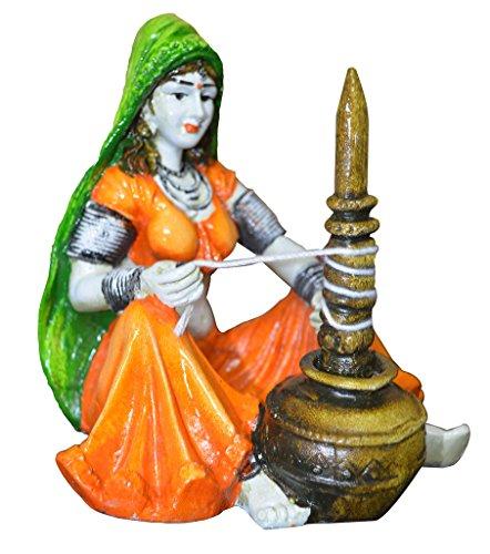 Karigaari India Polyresine Rajasthani Lady with Chaas